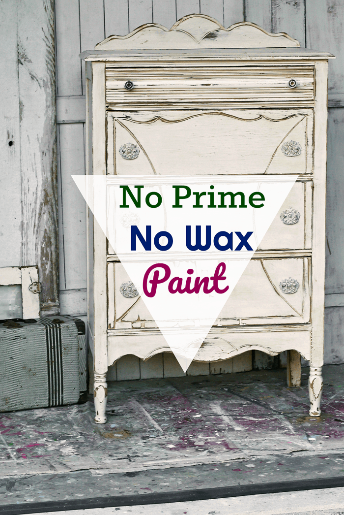 paint furniture the easy way without sanding or priming and no waxing either