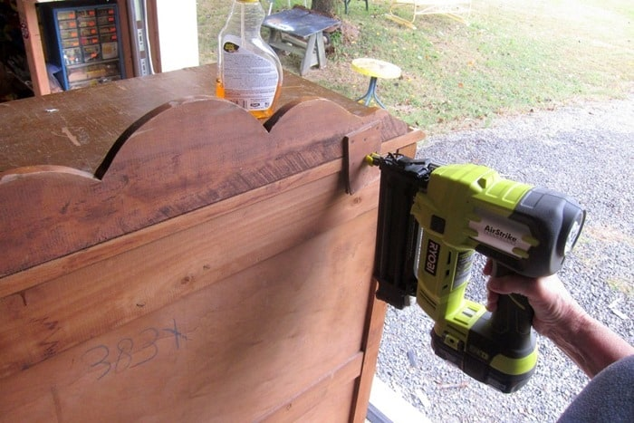 use a Ryobi brad nailer to repair furniture