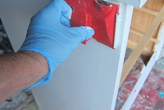 using a paint edger to paint furniture