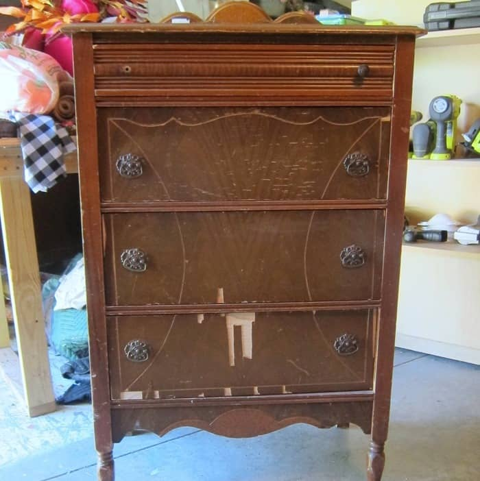vintage chest of drawers to paint by Petticoat Junktion