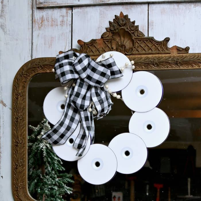 Christmas CD Wreath Recycle Project