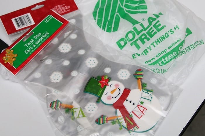 Christmas gift bags from the Dollar Tree