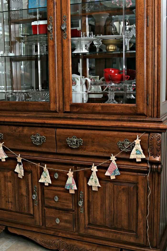 DIY Quilt Christmas Tree Banner