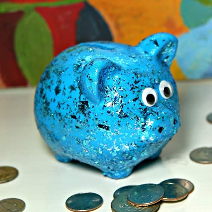 Glitter Piggy Bank Gift Idea
