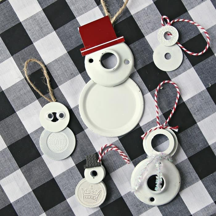 Jolly DIY Snowmen Ornaments Junk Drawer Crafts