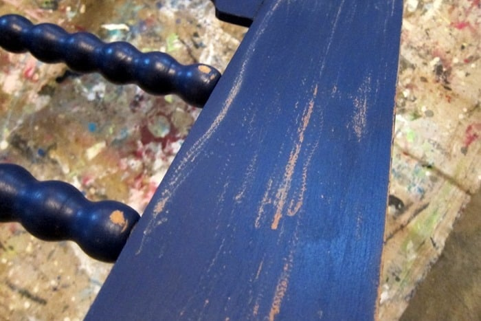 bad paint distressing with an electric sander