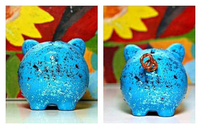 blue piggy bank gift idea