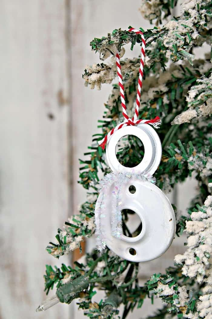 jolly diy snowman Christmas tree ornament