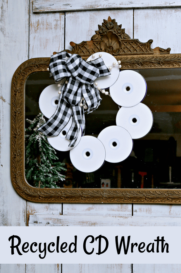 make a recycled cd wreath