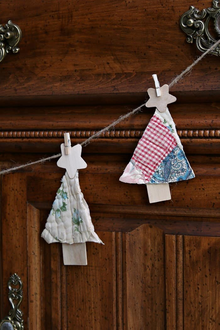 make unique Christmas decor out of vintage handmade quilts