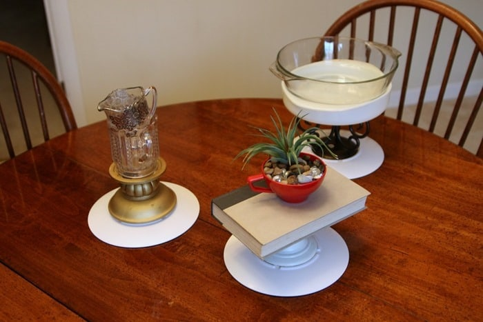making 3 diy cookie or cake stands