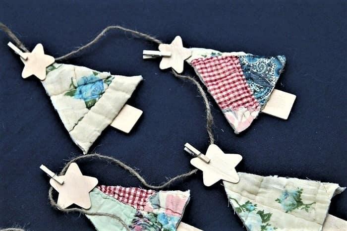 quilt Christmas tree ornament idea