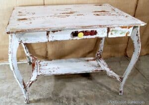 layered paint furniture makeover