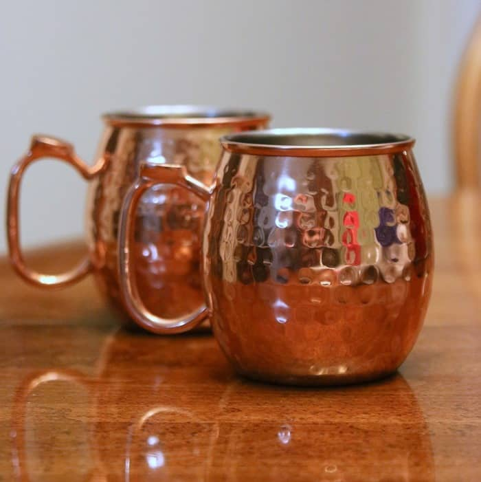 Copper Moscow Mule Mugs a thrift store purchase