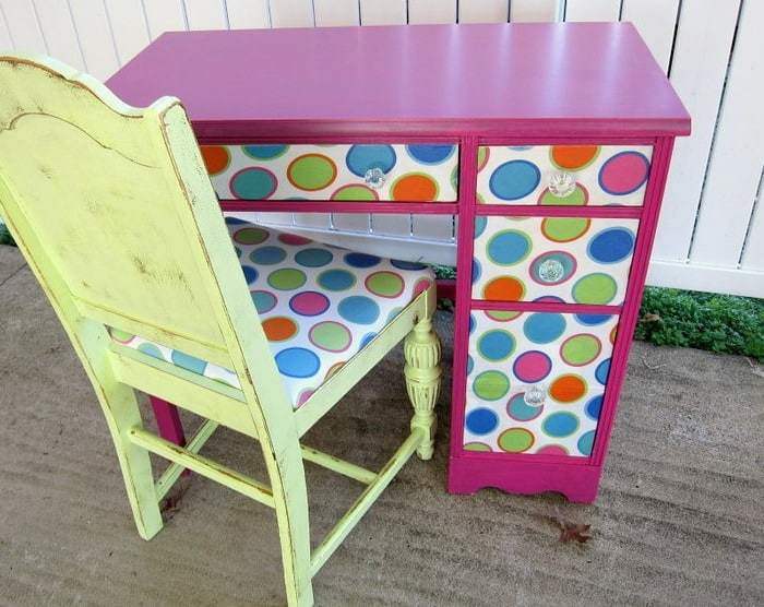 Decoupage Makeover Ideas For Old Desks
