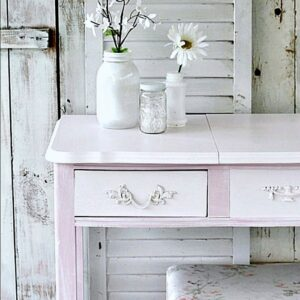 French Provincial Desk Makeover. with two tone paint