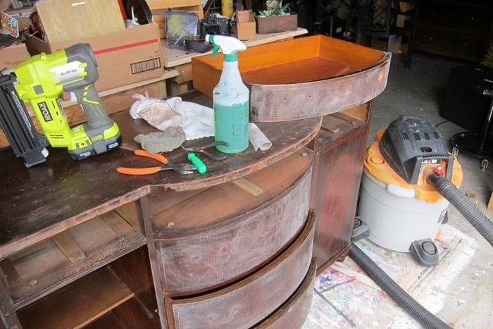 Cleaning and Prepping Vintage Sideboard Number 1