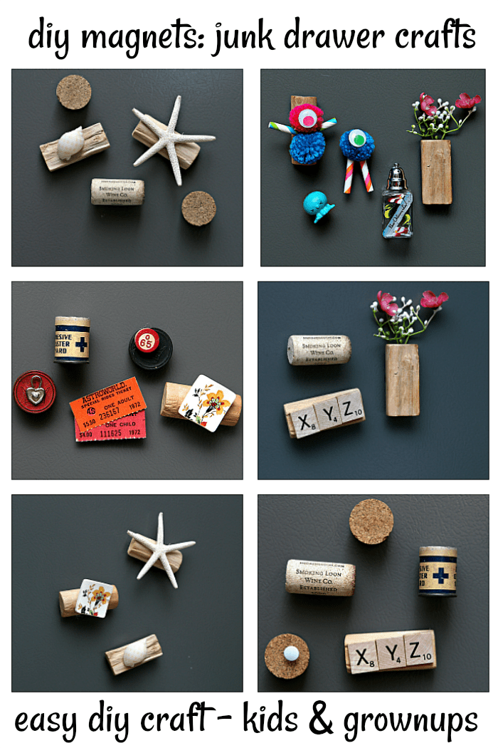 easy diy craft for kids and adults. make creative magnets.