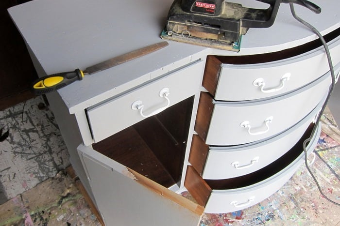 making repairs on furniture after it's painted