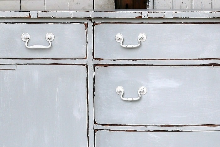 nantucket style or cottage style weathered gray furniture