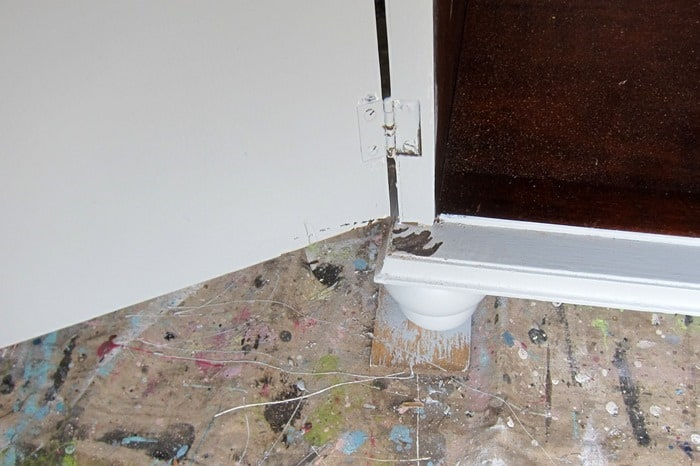 paint wear from furniture door