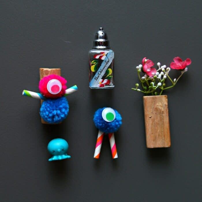 pom pom magnets for the kids