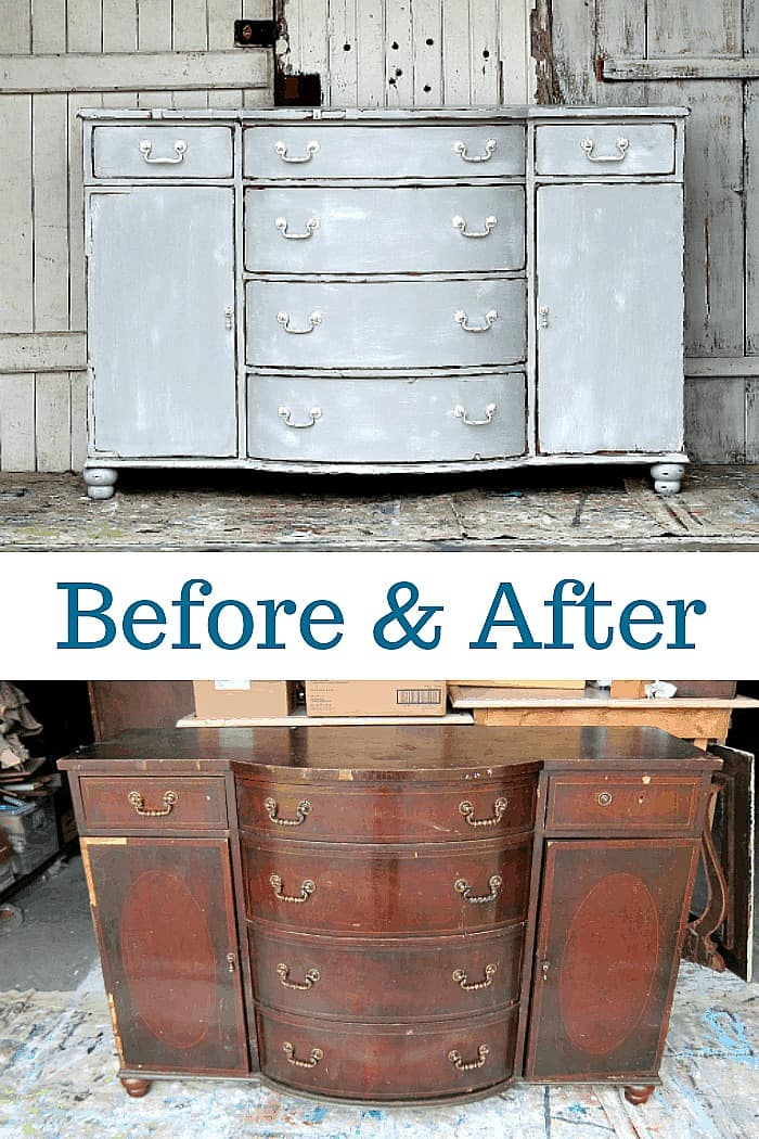weathered paint finish for furniture