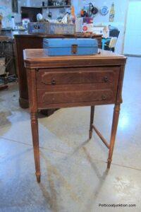 wood sewing machine cabinet