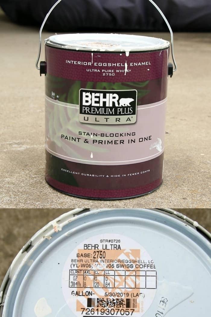 Behr Premium Plus Ultra Interior Eggshell color Swiss Coffee