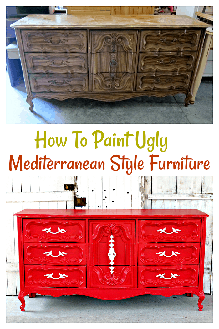 How To Paint Ugly Mediterranean Style Furniture