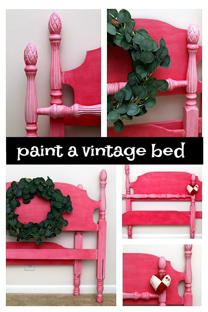 paint a vintage pineapple bed