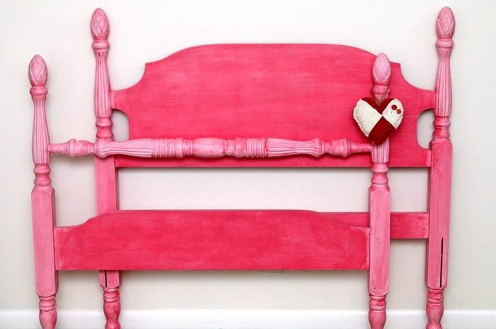 pink color for furniture or how to paint a twin bed pink