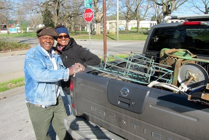 Mr. Raymond Butler and his sister Suzette loading items at my favorite junk shop in Kentucky