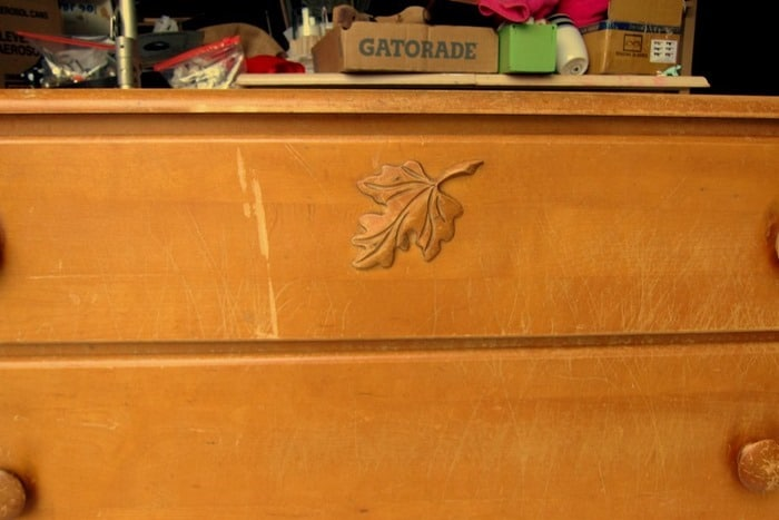oak leaf wood applique and furniture