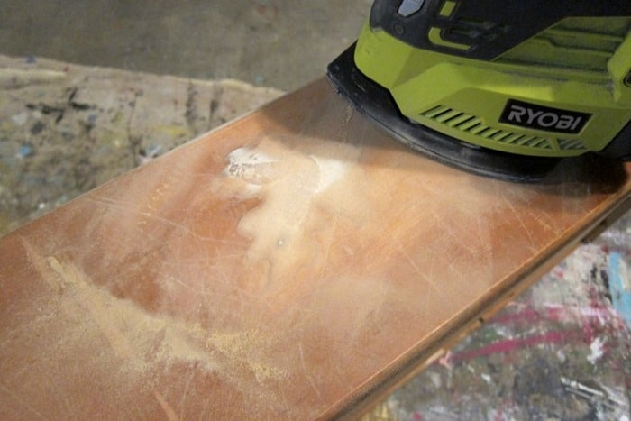 sanding furniture smooth