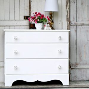 Simple Sophisticated White Dresser