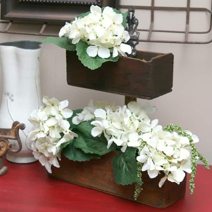 upcycled antique cheese box