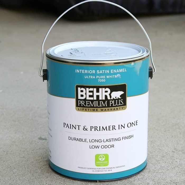 white trim paint from Behr
