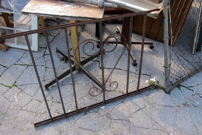 wrought iron heart railing