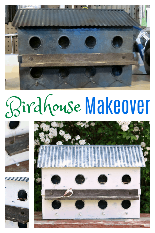Birdhouse Makeover with white paint