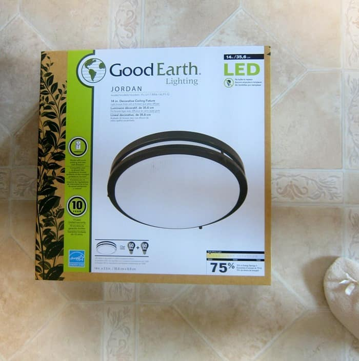 Good Earth Light Fixture from Lowes