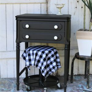Sewing Machine Cabinet Paint Makeover