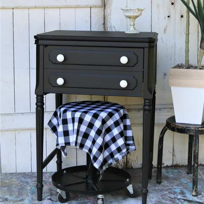 How to paint an old sewing machine cabinet