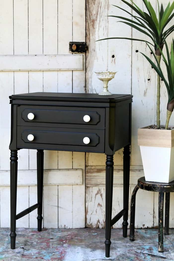Old Sewing Machine Cabinet Paint Makeover