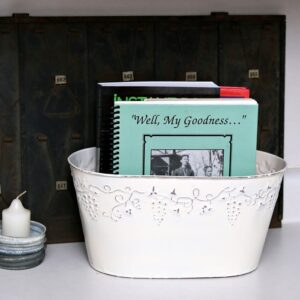 Spray Painted Cookbook Organizer