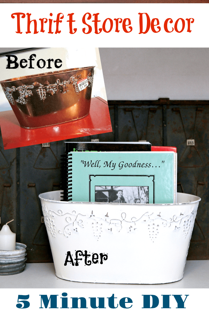 Thrift store decor 5 minute DIY