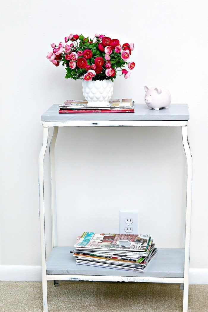 Transform a fish tank stand into a cute table 2