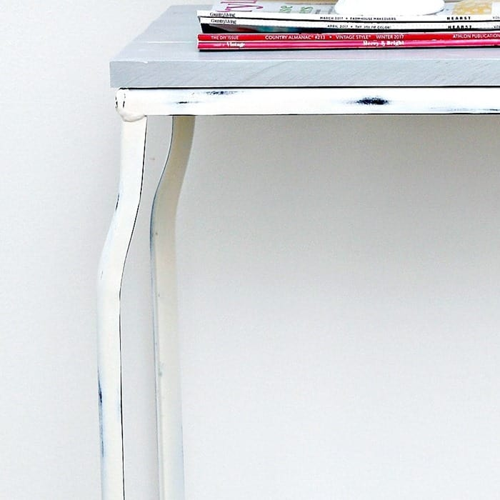 how to distress spray painted metal furniture