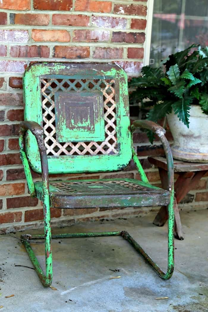 how to protect the patina on rusty metal furniture