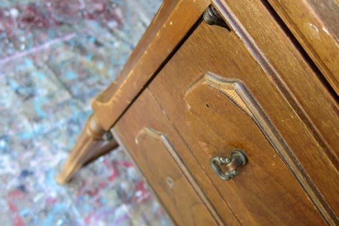 loose veneer on old furniture